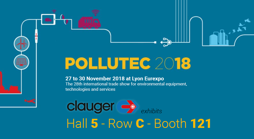 Clauger exhibits at Pollutec 2018